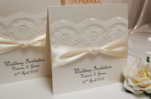 Vintage Style Lace Wedding Invitations