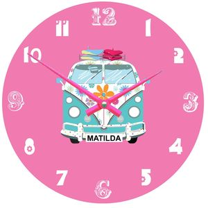 Personalised Camper Van Clock - clocks