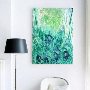 Forever Green, Abstract Canvas Art