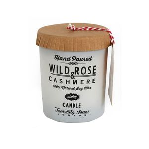 Soy Wax Candle Rose And Cashmere Or Lime Zest
