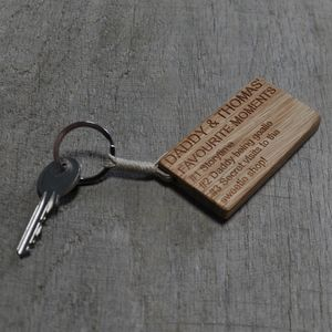 Father's Day Favourite Moments Key Ring