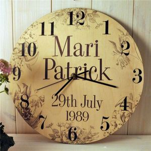Personalised Wedding Clock - office & study