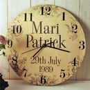 Personalised Wedding Clock