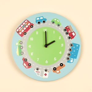 Children's Bedroom Transport Wall Clock - children's room