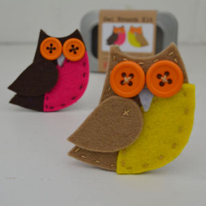 Owl Brooch Sewing Kit