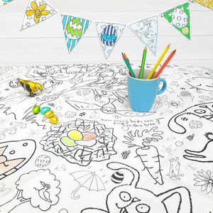Colour In Tablecloth Easter Choice Of Two - toys & games