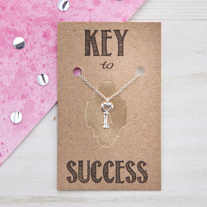 Key To Success Sterling Silver Necklace - gifts for teenagers