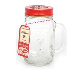 'County Fair' Mason Drinking Jar With Handle - table decorations
