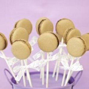 Personalised French Macaron Cake Pop Wedding Favours - edible favours