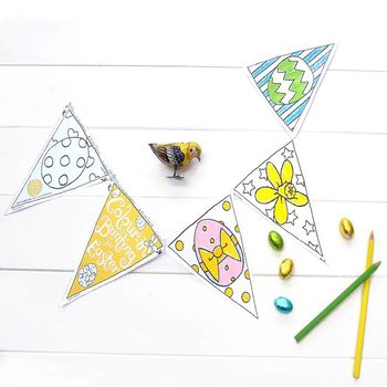 *Get Two For One Easter Bunting X2