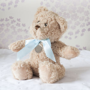 New Baby Boy Personalised Bramble Bear - soft toys & dolls
