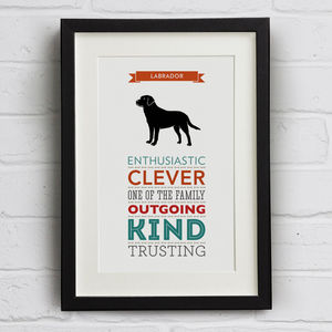 Labrador Dog Breed Traits Print - prints & art sale