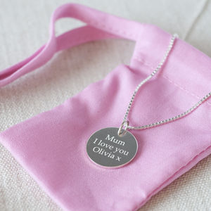 Personalised Sterling Pendant Necklace