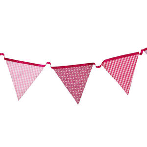 Pink Fabric Bunting - new in home