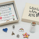little life kit - inside box, lid & example of charms
