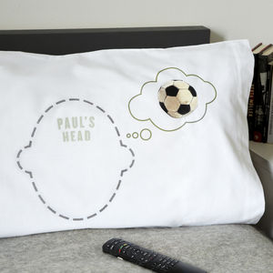Personalised Pillowcases Headcase Range For Sports Fans - bedroom