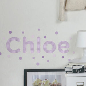 Personalised Spots Childrens Name Wall Stickers - children's room
