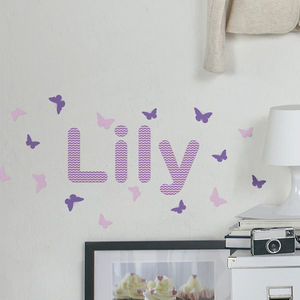 Personalised Waves Childrens Name Wall Stickers - home accessories