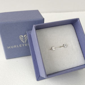 Sterling Silver And Faceted Crystal Stud Earrings - earrings