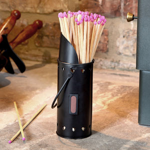 Heart Matches Canister With Handle - living room