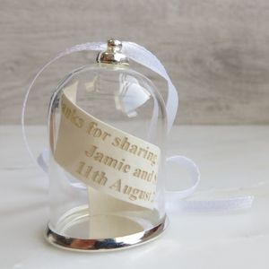 Personalised Glass Dome Hanging Decoration - wedding favours