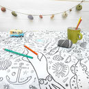 Colour In Tablecloth Seaside Choice Of Two