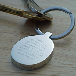 Serenity Prayer Keyring - keyrings