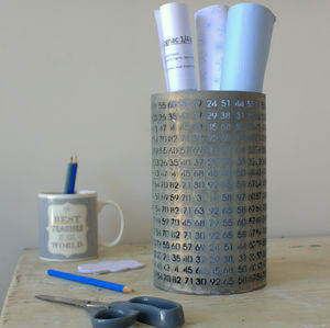 Large Zinc Pot With Numerical Laser Cut - occasional supplies