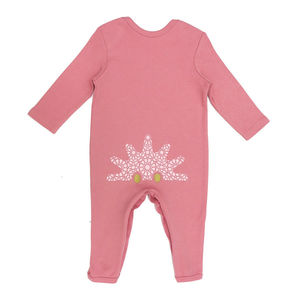 Girls Organic Urchin Bottom Babygrow - babygrows