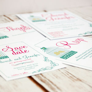 Bird Cage Wedding Stationery Range
