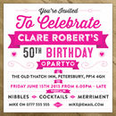 Personalised Celebration Birthday Party Invite