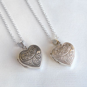Sterling Silver Heart Locket - necklaces & pendants