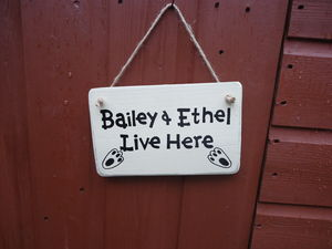 Personalised Rabbit Hutch Sign - art & decorations