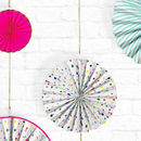 Glitter Party Pinwheel Decorations