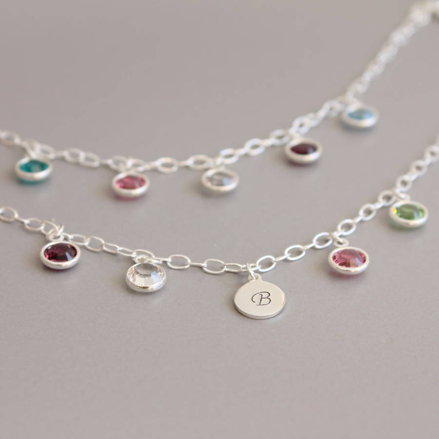 Birthstone Charm Bracelet: Family Birthstone Charm Bracelet By Joy By Corrine Smith