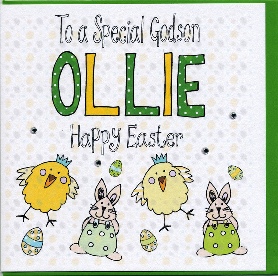 Personalised godson easter card by claire sowden design personalised godson easter card negle Choice Image