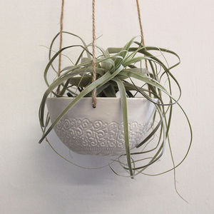 Porcelain Lace Hanging Planter