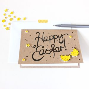 Hand Lettered Easter Egg Card