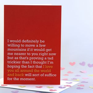 'Love You All Around The World And Back' Card - valentine's cards