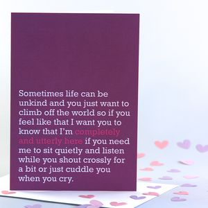 'Completely And Utterly Here' Card - blank cards