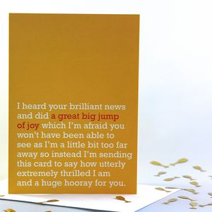 'A Great Big Jump Of Joy' Card - engagement cards