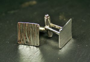 Hammered Square Cufflinks - cufflinks