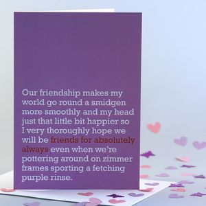 'Friends For Absolutely Always' Card - blank cards