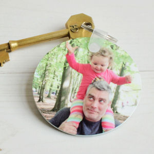 Personalised Photo Round Key Ring - womens