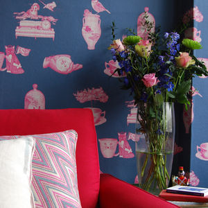 'Elpis' Illustrative Wallpaper - home decorating