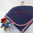 Personalised Blanket With Paddington Bear Toy