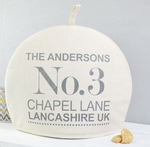 Personalised Address Tea Cosy - new home gifts