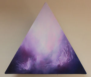 Elizabeth Original Abstract Triangular Oil Painting - modern & abstract