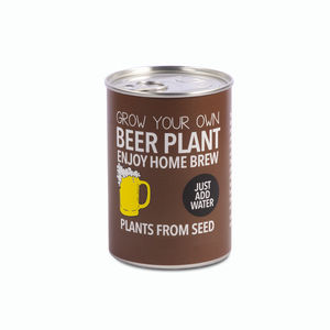 Grow Your Own Beer Plant Decorative Tin Kit