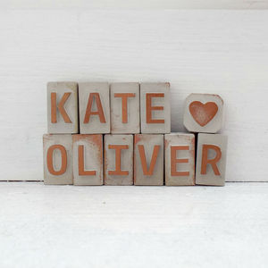Personalised Wedding Names Mini Letters Love Token - card alternatives